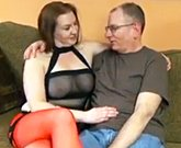 Homegrown Big Tits – Busty amateur plumper fucked by an older man