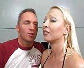 Horny wife fucks in threesome