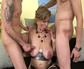 Hottie Marissa Boob sucked by two men you