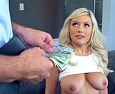 Beautiful blonde Bonnie Kinz gets paid for sex