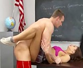 XXX Schoolgirl – Young brunette Presley Dawson gets the hard cock in the classroom