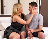 Lusty MILF with big tits Julia Ann fucks with younger man