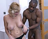 British mature woman with huge tits loves big black cock