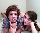 Young amateur couple fucking before the webcam