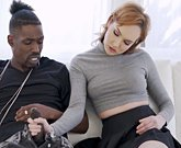 Young horny girl Emily Blacc fucks with big black cock