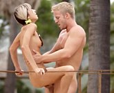 Slim girl Gina Gerson fucks on the terrace