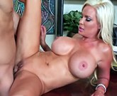 XXX MILF – Sexy blonde with huge boobs Diamond Foxxx fucks in the office